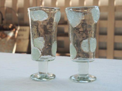 山田奈緖子 泡水玉台付グラス