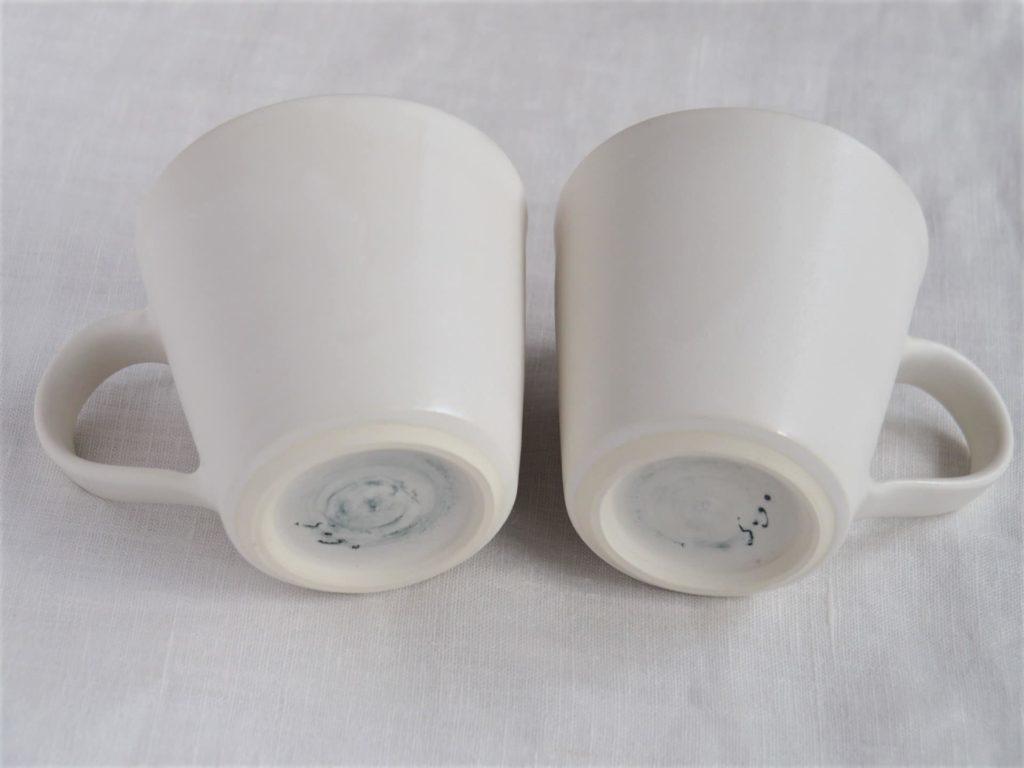 十河隆史 白釉マグカップ