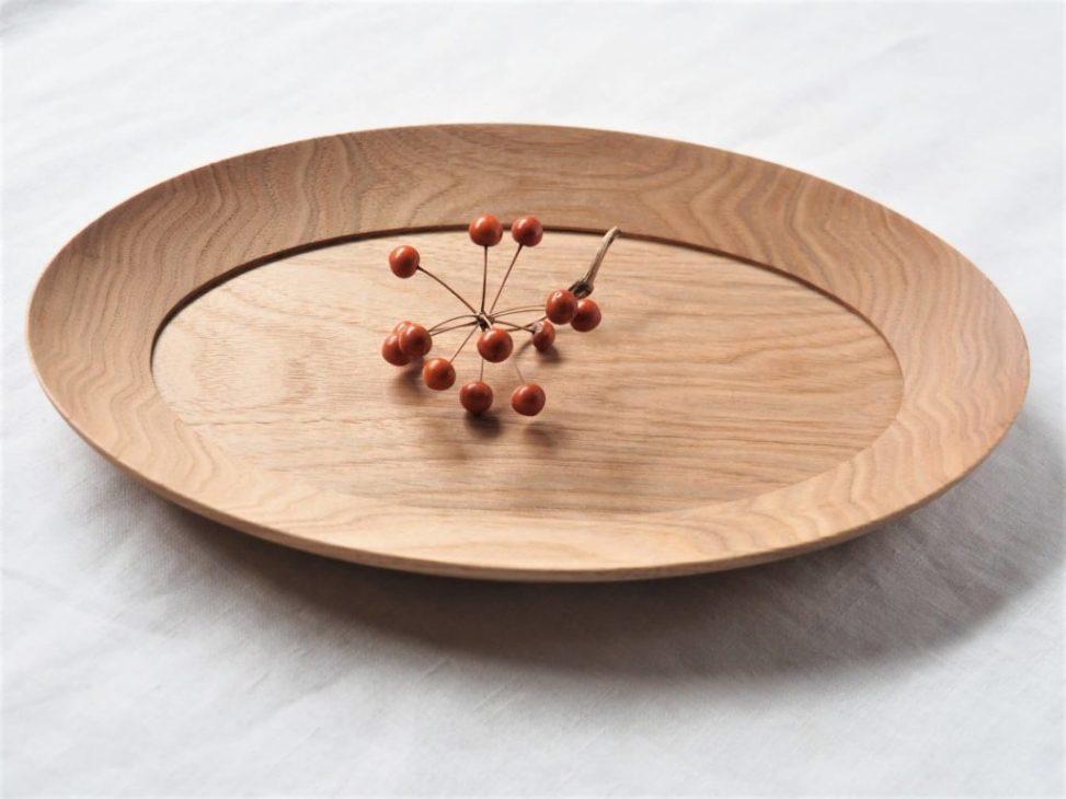 高塚和則くるみオーバル皿