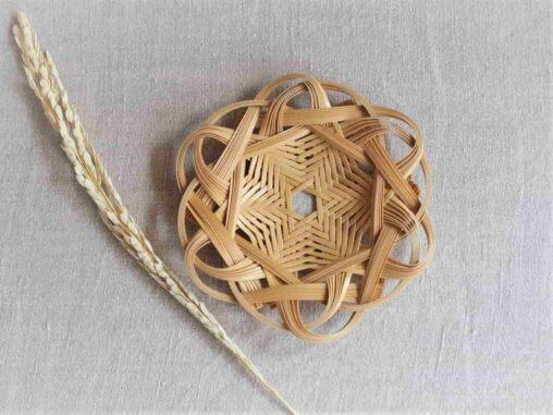 やまざきようこ-竹クモの巣編みコースター