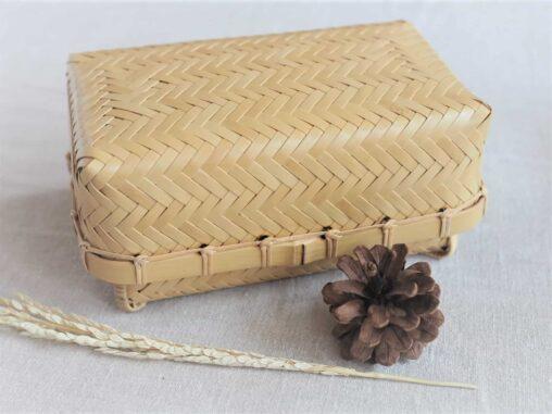 やまざきようこ-竹網代編み-ふた付